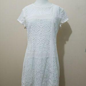 Nanette Lepore Ivory Lace Mini Dress